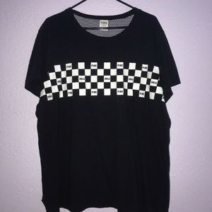 Checkered board PINK Victoria Secret t-shirt